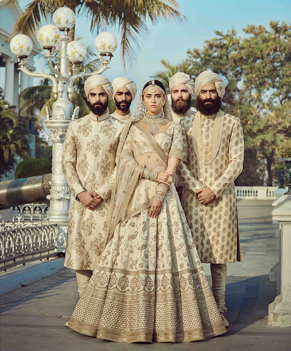 Off-White Color Wedding Lehenga Set