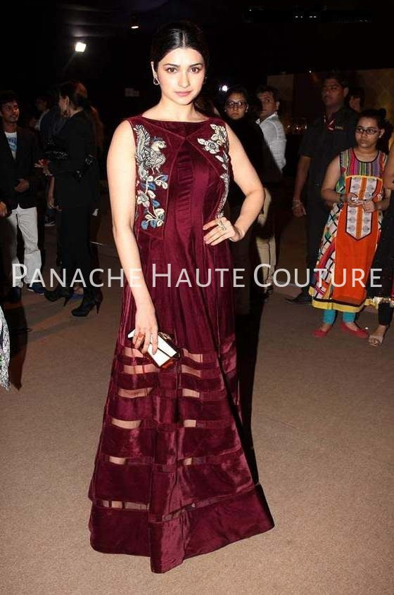 Wine Color Indo Western Gown