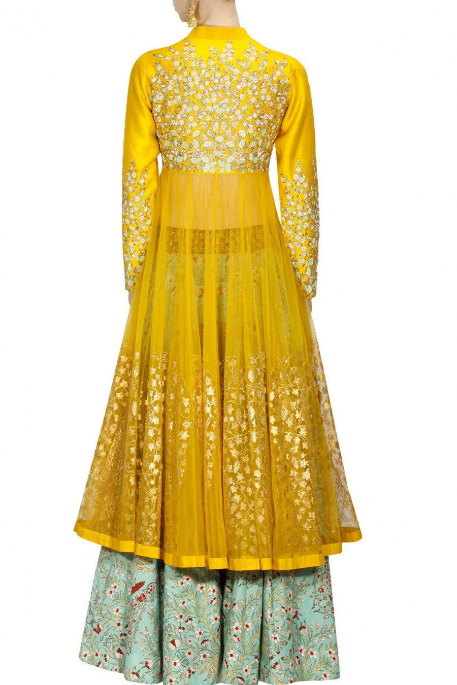 Yellow Colour Sharara Set