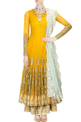 Yellow Wedding Anarkali