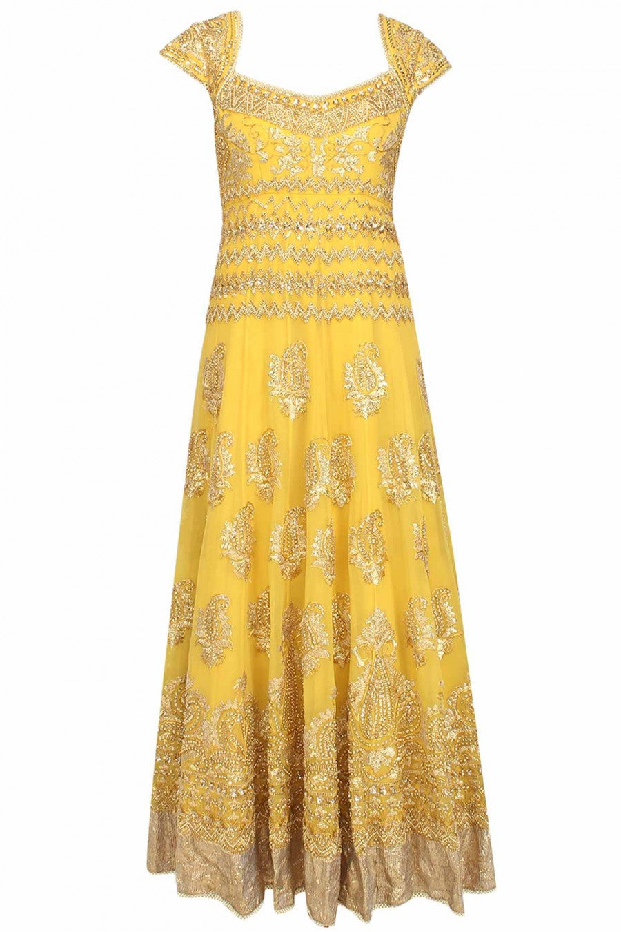 Yellow Gotta Patti Anarkali