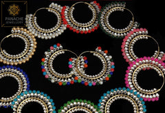 Kundan and Polki High Quality Punjabi Traditional Earrings