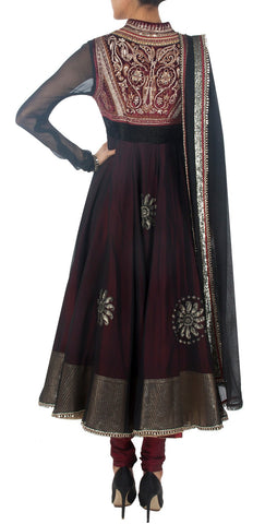black color anarkali suit