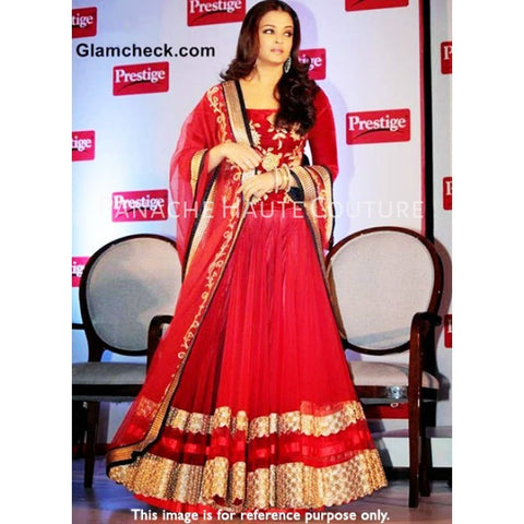 Aishwarya Rai in Red Color Designer Lehenga Choli Online