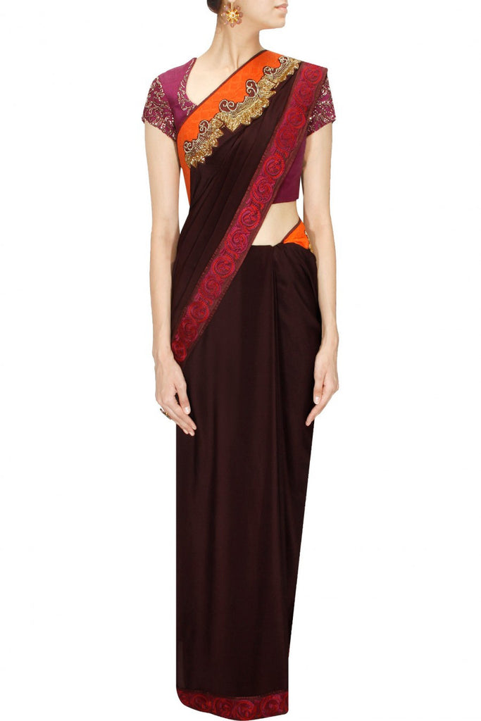 Chocolate Colour Saree