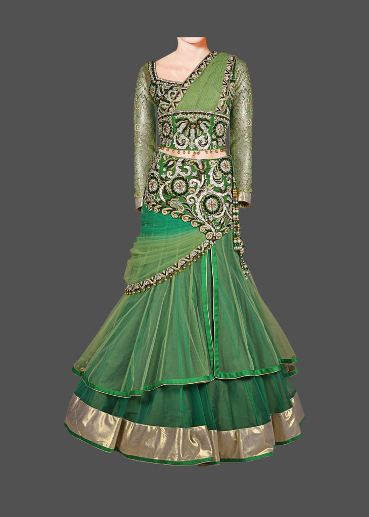Green Shaded lehenga choli