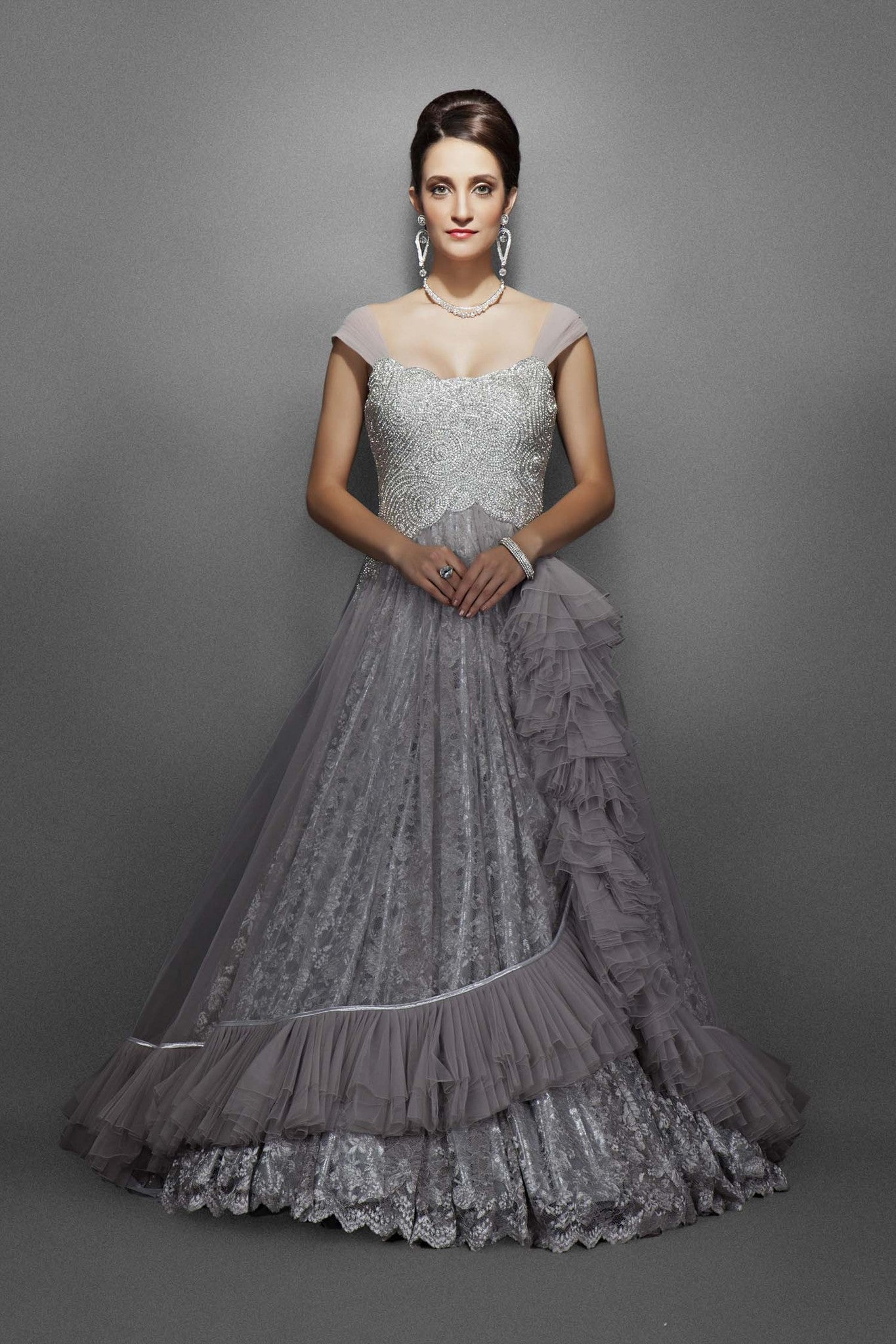 Silver and Grey bridal gowns