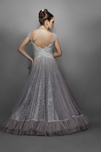 Silver and Grey bridal gowns catalog photo