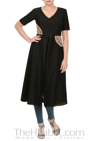 Black Mirror Embroidery Tunic