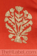 Rust block printed angrakha