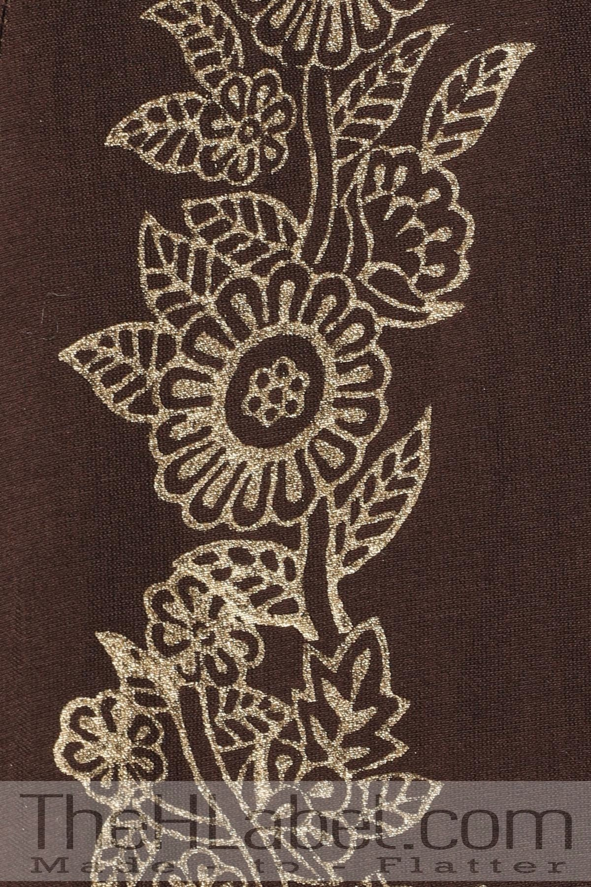Brown block print angrakha