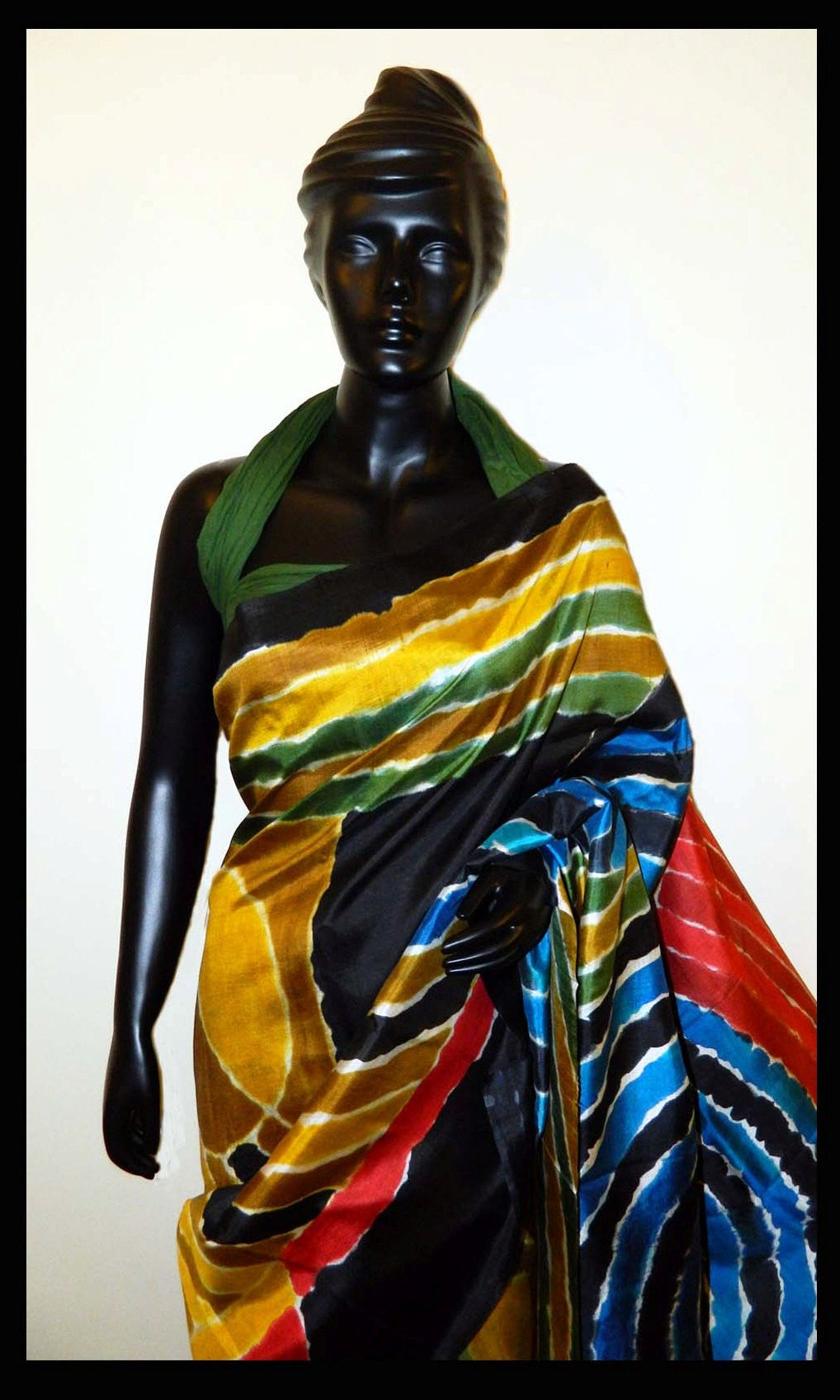 Beautiful Hand-painted saree in multicolor