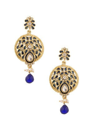Blue and Gold Designer Earrings