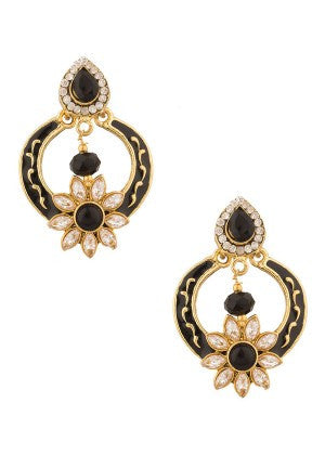 Black and Gold Designer Earrings