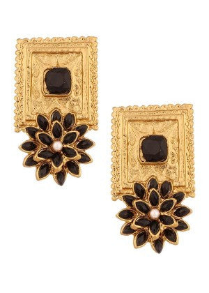 Black and Golden Designer Earrings