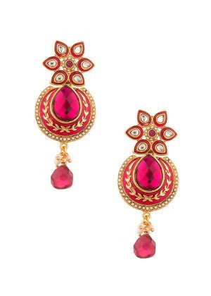 Pink and Gold Designer Earrings