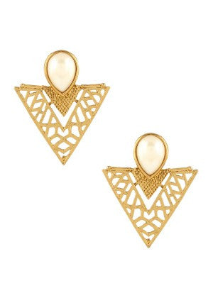 Golden Color Designer Earrings