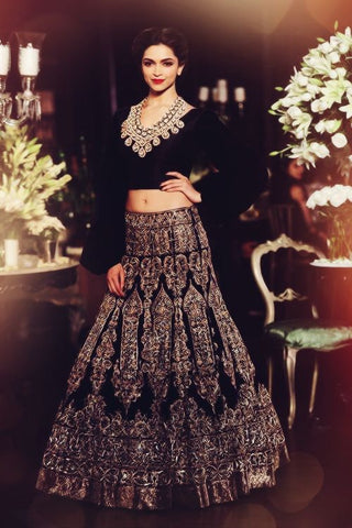 Deep Blue Color Wedding Lehenga