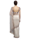 Ivory color designer saree with sequin work