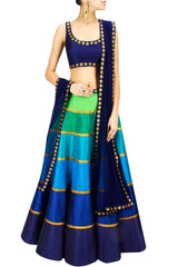 Multicolour Lehenga choli by Priyal Prakash
