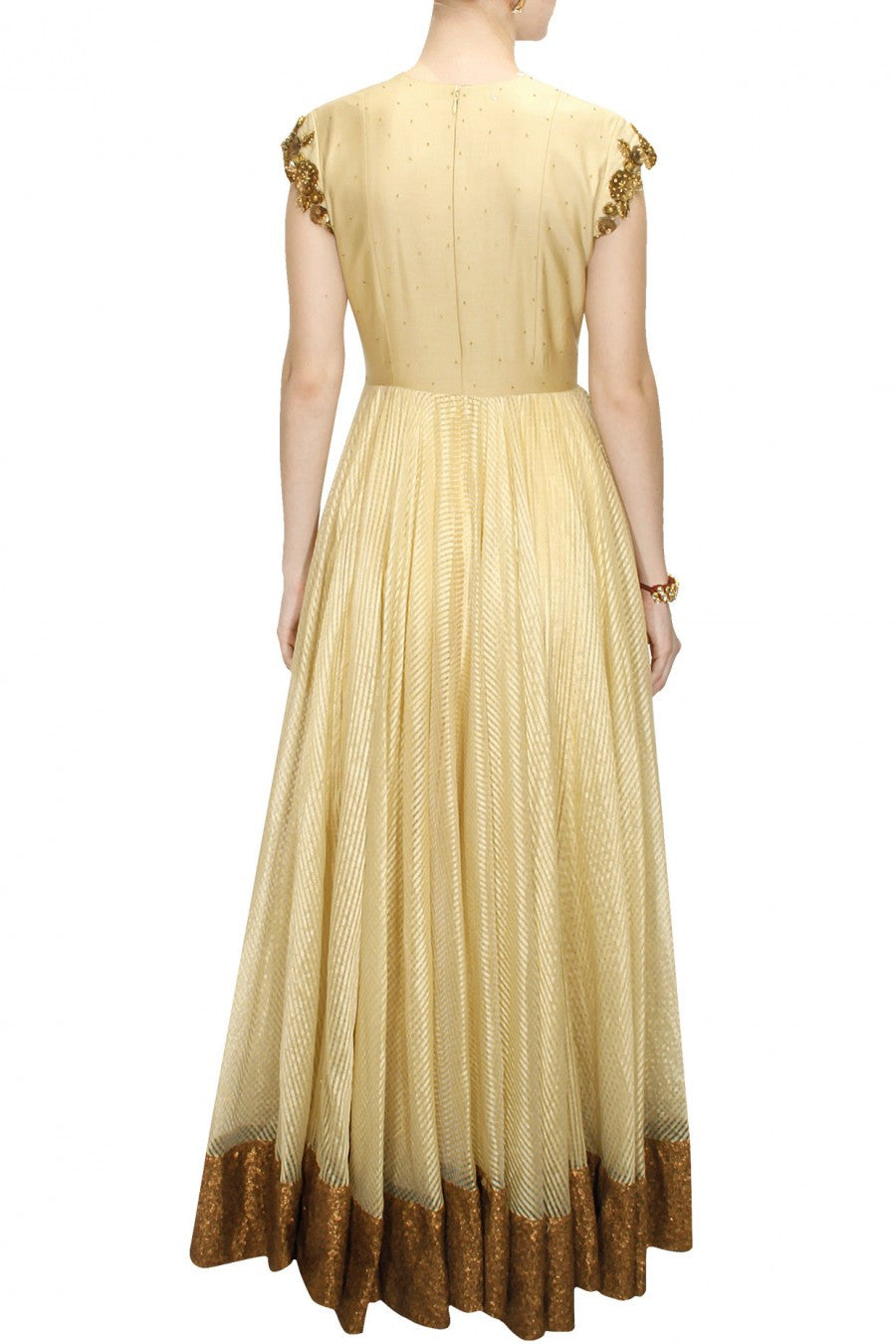 Offwhite Anarkali suit