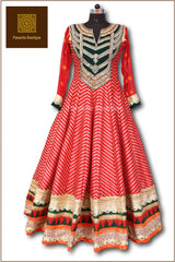 Red Colour Floor Length Anarkali