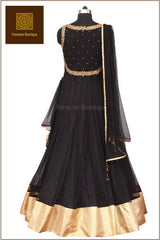 Black Colour Floor Length Anarkali