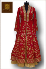 Red Colour Anarkali Lehenga