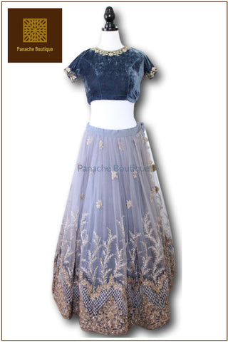 Grey Colour Lehenga Choli