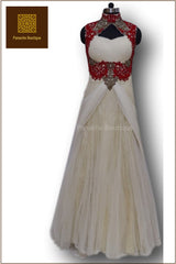Ivory Colour Indo Western Gown
