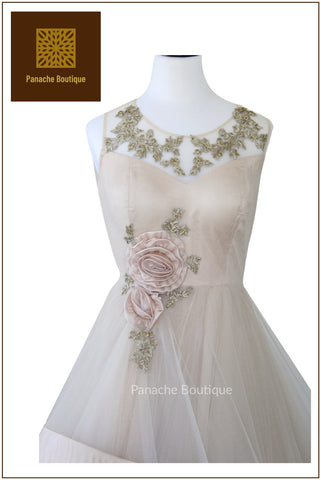 Champagne Colour Indo Western Gown