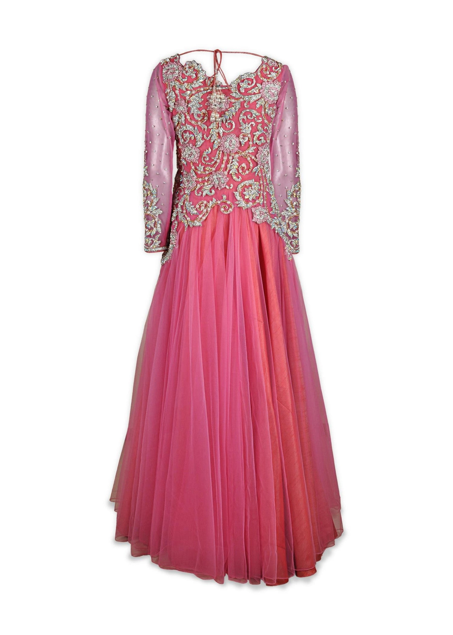 Pink color Indo Western Gown