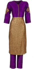 Purple color designer trouser suit