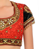 Red colour bridal lehenga choli