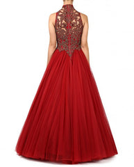 Red Gown from Shantanu & Nikhil Collection