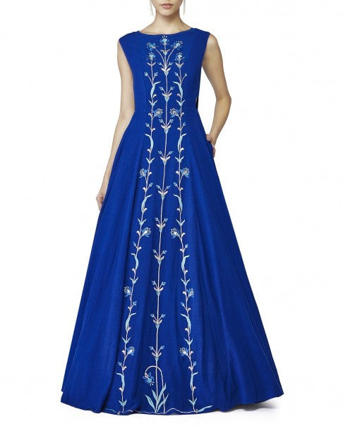Royal Blue Color Gown