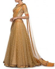 Golden Lehenga Choli Replica from Tarun Tahiliani Collection