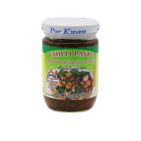 Chilli Paste With Holy Basil 'Por Kwan' 200g - Tangola Pty Ltd