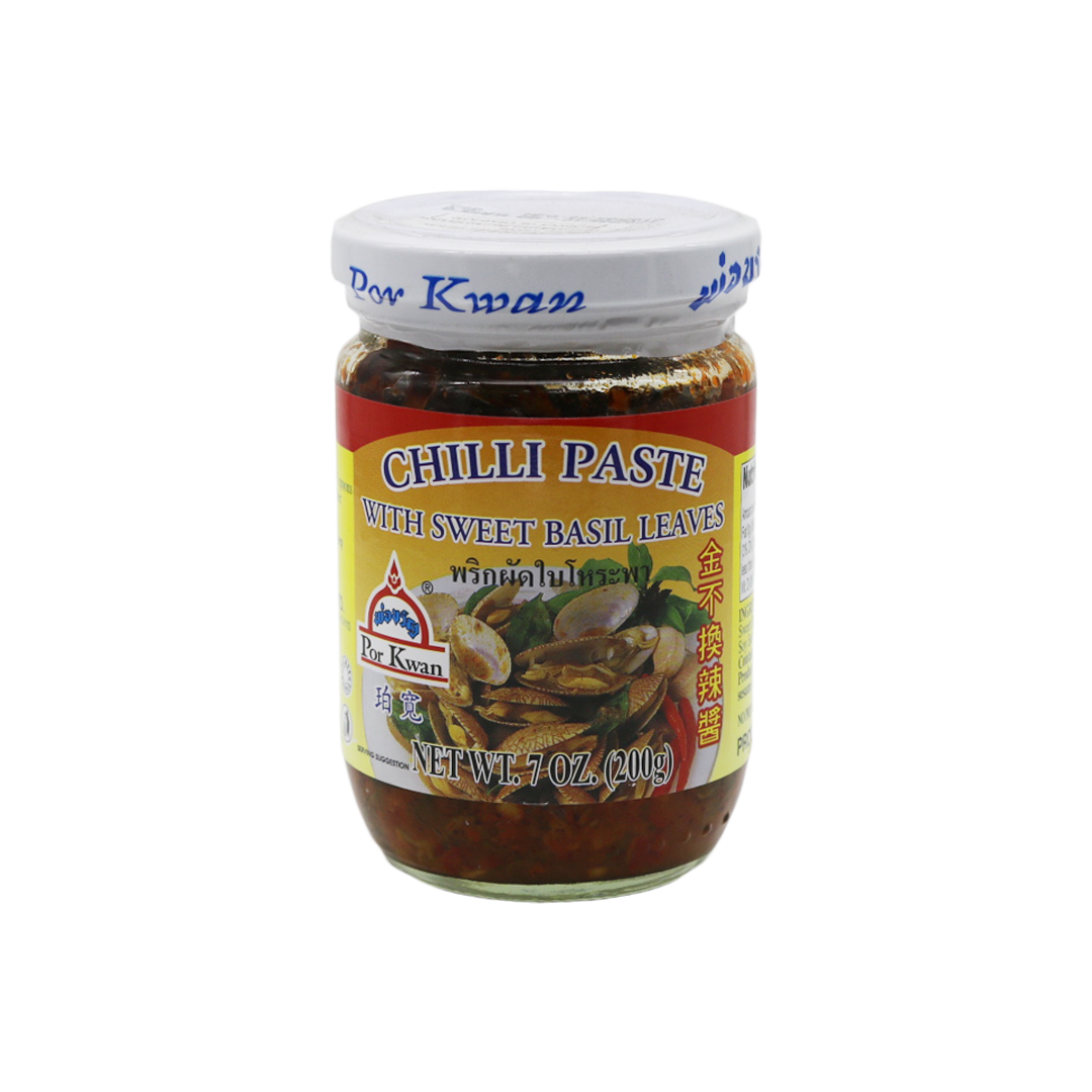 Chilli Paste With Sweet Basil 'Por Kwan' 227g - Tangola Pty Ltd
