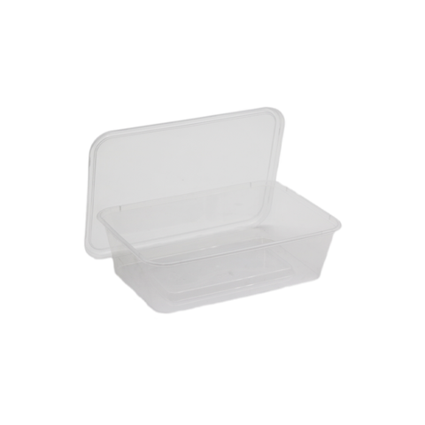 Container Rectangular 650ml With Lid (Set)