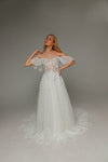 V0106,Bohemian Wedding dress, Tulle Wedding Dress