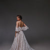 V0122, Bohemian Wedding Dress, Open Back Wedding Dressress