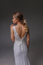 V0125,Mermaid Wedding Dress, , Open Back Wedding Dress