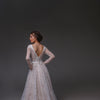 V0126,Open Back Wedding Dress,Long Sleeve Wedding Dress