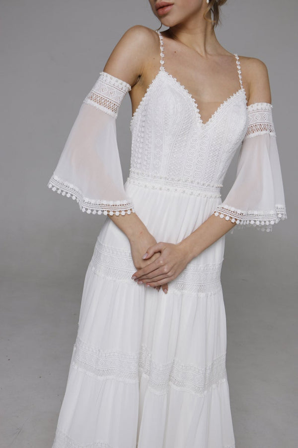 "Wedding Dresses ""Bar"" Boho Wedding Dress"