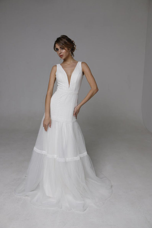 "Wedding Dresses ""Jilll"" Sleeveless Wedding Gown"