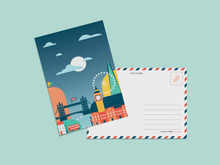 Load image into Gallery viewer, London Illustration Postcard