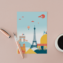 Load image into Gallery viewer, Paris Illustration Postcard