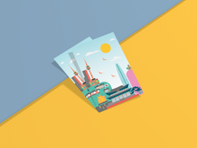 Load image into Gallery viewer, Seoul Illustration Postcard