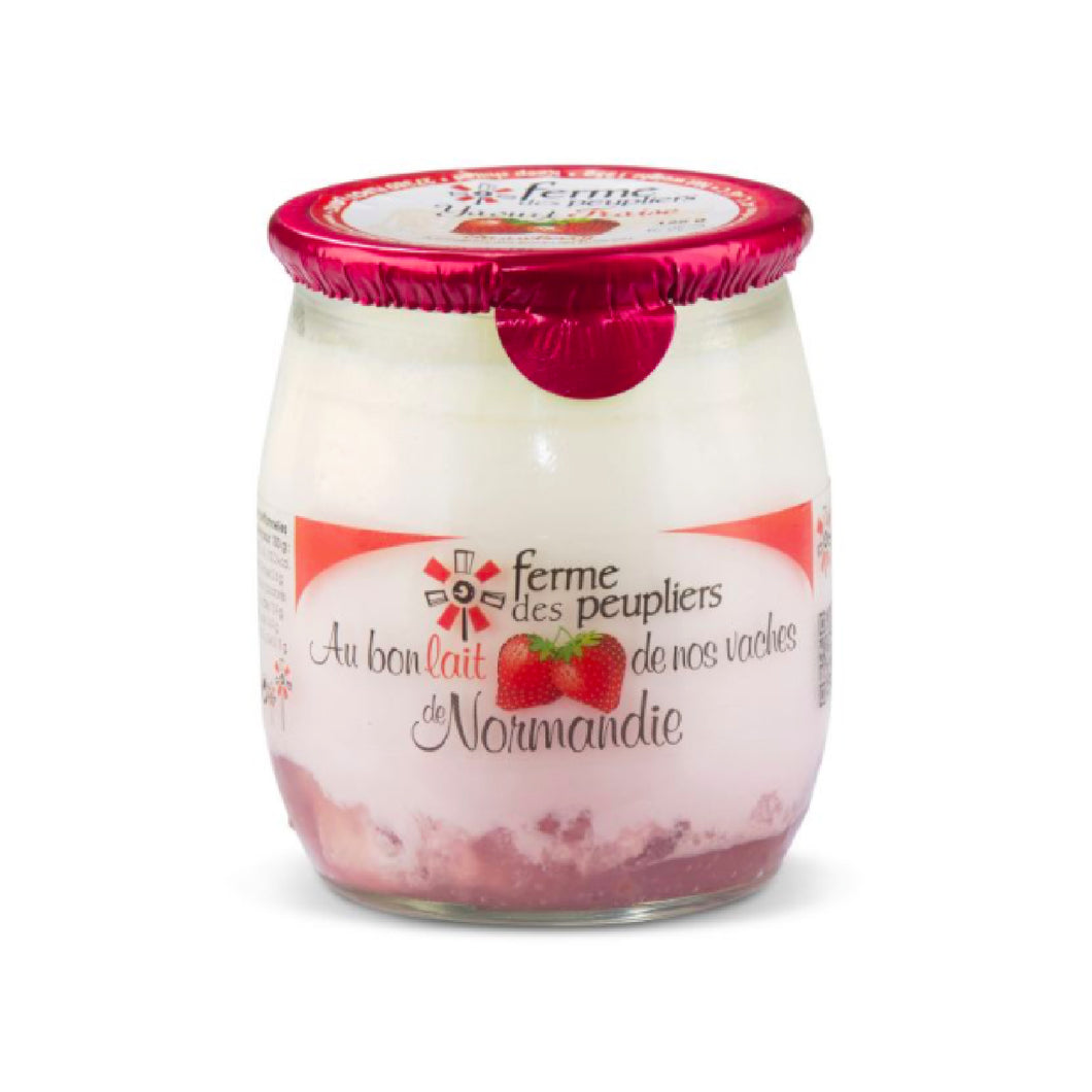 Ferme des Peupliers Strawberry Yoghurt (125g x 12 pots)